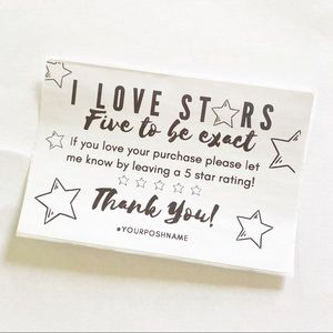 100 Personalized 5 Star ⭐️ Labels 4x6